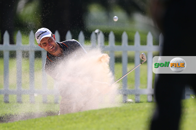 Edouardo Molinari (ITA) practices sand shots at the SA Open Championship 2013 at the Glendower Golf Club, Johannesburg, South Africa. Picture:  David Lloyd / www.golffile.ie