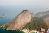 Rio de Janeiro, Brazil. Sugar loaf; aerial view from the north.