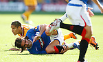 Pedro Mendes controversey as he goes down from a Giles Coke tackle