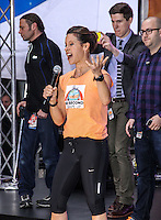 NEW YORK CITY, NY, USA - MAY 23: Jenna Wolfe performs on NBC's 'Today' at the Rockefeller Center on May 23, 2014 in New York City, New York, United States. (Photo by Jeffery Duran/Celebrity Monitor)