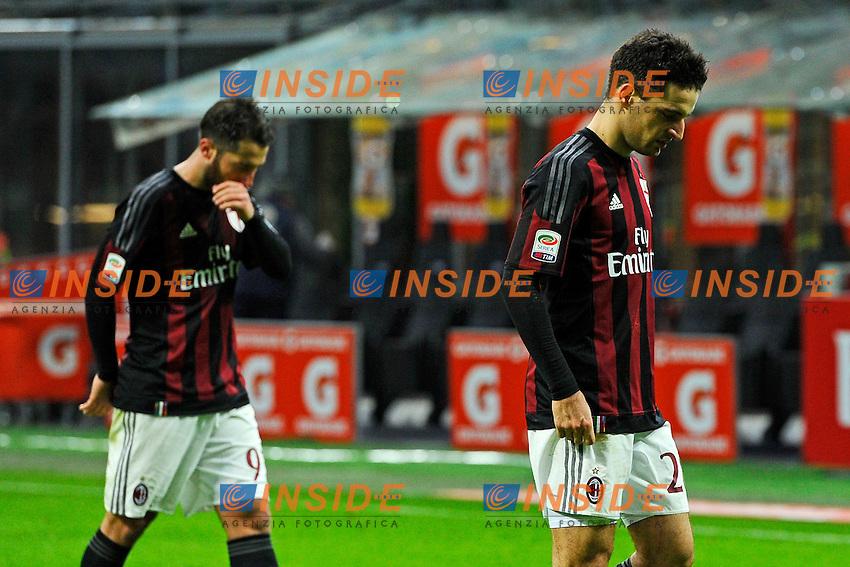 Delusione Giacomo Bonaventura e Andrea Bertolacci Milan<br /> Milano 6-01-2016 Stadio Giuseppe Meazza - Football Calcio Serie A Milan - Bologna. Foto Giuseppe Celeste / Insidefoto