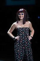 SAO PAULO. 30 DE AGOSTO DE 2012. HAIR FASHION SHOW. A atriz Isabelle Drumond  durante o Hair Fashion Show, evento em que sao apresentadas as ultimas tendencias em cortes e penteados de cabelo em desfile no WTC, na zona sul da capital paulista. FOTO ADRIANA SPACA - BRAZIL PHOTO PRESS