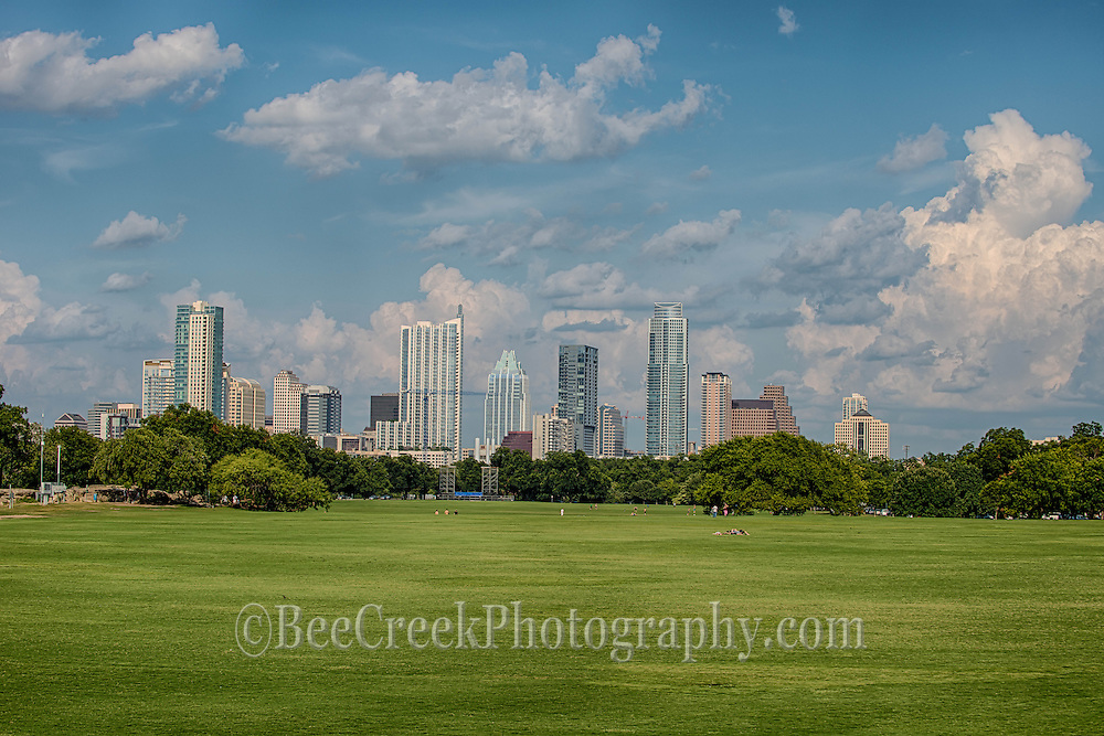 view of Austin Texas from Zilker park