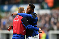Ross Batty and Levi Douglas of Bath Rugby. Gallagher Premiership match, between Leicester Tigers and Bath Rugby on May 18, 2019 at Welford Road in Leicester, England. Photo by: Patrick Khachfe / Onside Images