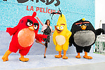 """Spanish synchronized swimming Ona Carbonell during the presentation of the film """"Angry Birds"""" at the Flat Roof of Torre Picasso in Madrid. April 29,2016. (ALTERPHOTOS/Borja B.Hojas)"""