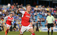 Fleetwood Town's Kyle Dempsey celebrates scoring his sides third goal <br /> <br /> Photographer Rob Newell/CameraSport<br /> <br /> The EFL Sky Bet League One - Gillingham v Fleetwood Town - Saturday 22nd April 2017 - MEMS Priestfield Stadium - Gillingham<br /> <br /> World Copyright &not;&copy; 2017 CameraSport. All rights reserved. 43 Linden Ave. Countesthorpe. Leicester. England. LE8 5PG - Tel: +44 (0) 116 277 4147 - admin@camerasport.com - www.camerasport.com