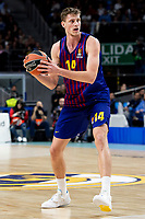 Artem Pustovyi of FC Barcelona Lassa during Turkish Airlines Euroleague match between Real Madrid and FC Barcelona Lassa at Wizink Center in Madrid, Spain. December 13, 2018. (ALTERPHOTOS/Borja B.Hojas) /NortePhoto.com