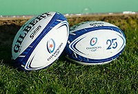 17th November 2019; The Sportsground, Galway, Connacht, Ireland; European Rugby Champions Cup, Connacht versus Montpellier; View of the Champions Cup rugby balls ahead of the clash between Connacht and Montpellier - Editorial Use
