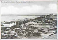 BNPS.co.uk (01202 558833)<br /> Pic: IrisMorris/BNPS.co.uk<br /> <br /> ***Must Use Full Byline***<br /> <br /> Postcard showing how Sandbanks looked 100 years ago.<br /> <br /> A humble holiday home a family bought for just &pound;1,000 almost a century ago on the exclusive enclave of Sandbanks has turned into a luxury property now worth &pound;5 million.<br /> <br /> The bungalow was bought new by Dr Edward Andreae in the 1920s when the practice of building on the sandy Dorset peninsula was questioned because of perceived issues over stability.<br /> <br /> Over the last seven decades the bolthole has been passed down through the generations of the same family until it fell into a state if disrepair.<br /> <br /> In 2011 Dr Andreae's great-grandson, Tim Baldwin, and his father Jonathan, made the drastic decision to demolish the 90 year old building and erect a new one in its place.<br /> <br /> They spent 580,000 pounds creating a luxurious beach escape on the 'Millionaires' Row' in Poole Harbour.<br /> <br /> The plot is now home to a sprawling seven bedroom, five bathroom property which experts believe to be worth around five million pounds - 5,000 times it's original purchase price.