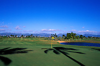 Hole number nine of the Hawaii Prince golf cource designed by Arnold Palmer and Ed Seay