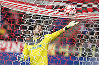 Olympiacos´s goalkeeper Roberto during Champions League soccer match between Atletico de Madrid and Olympiacos at Vicente Calderon stadium in Madrid, Spain. November 26, 2014. (ALTERPHOTOS/Victor Blanco) /NortePhoto