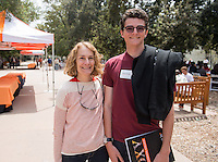 Admitted students and their parents visit the Occidental College campus during Experience Oxy! Admitted Student Day, April 18, 2014. (Photo by Marc Campos, Occidental College Photographer)