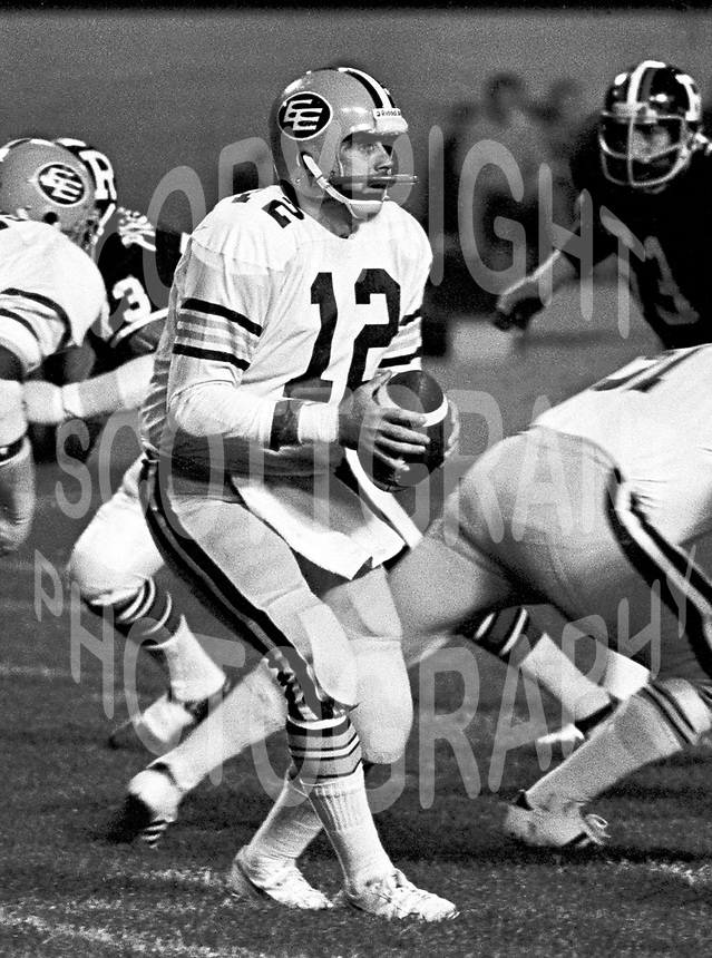 Tom Wilkinson Edmonton Eskimos 1975. Photo F. Scott Grant
