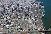aerial photograph South of Market Street Transbay Terminal Center San Francisco, California