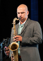 Jazz Fest 2009, Day 3.  Ben Jaffie introduced Terence Blanchard, who then put on a terrific show with a talented group of younger musicians.