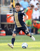 Roger Torres #20 of the Philadelphia Union against the Seattle Sounders FC during the first MLS match at PPL stadium in Chester, PA. on June 27 2010. Union won 3-1.