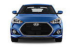 Car photography straight front view of a 2016 Hyundai Veloster 1.6 Turbo Rally Edition Manual 4 Door Hatchback Front View