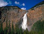 Yoho National Park, Canada    <br /> Takakkaw Falls plunging 380 meters into the Yoho River Valley