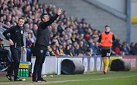 Fleetwood Town manager Joey Barton shouts instructions to his team from the technical area<br /> <br /> Photographer Chris Vaughan/CameraSport<br /> <br /> The EFL Sky Bet League One - Saturday 23rd February 2019 - Burton Albion v Fleetwood Town - Pirelli Stadium - Burton upon Trent<br /> <br /> World Copyright © 2019 CameraSport. All rights reserved. 43 Linden Ave. Countesthorpe. Leicester. England. LE8 5PG - Tel: +44 (0) 116 277 4147 - admin@camerasport.com - www.camerasport.com