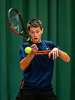 Wateringen, The Netherlands, December 4,  2019, De Rhijenhof , NOJK 14 and18 years, Freek van Donselaar (NED)<br /> Photo: www.tennisimages.com/Henk Koster