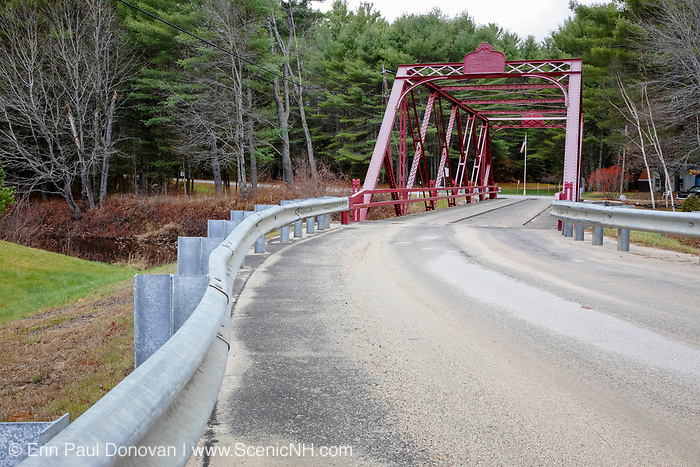 Ryefield Bridge in Otisfield, Maine. This is the last remaining suspension bridge of its style in the State of Maine and is listed on the National Register of Historic Places.