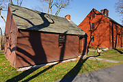 The Old Schoolhouse and Jefferds' Tavern during the autumn months....located in York, Maine USA which is part of scenic New England