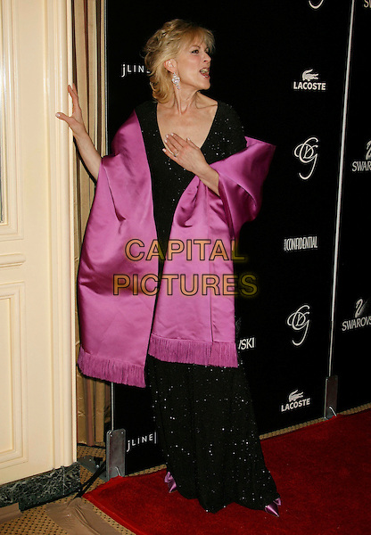 JUDITH LIGHT.2007 Costume Designers Guild Awards held at the Beverly Wilshire Hotel, Beverly Hills, California, USA,.17 February 2007..full length purple wrap shawl black dress funny.CAP/ADM/RE.©Russ Elliot/AdMedia/Capital Pictures.