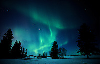 Northern lights (Aurora borealis) display<br />