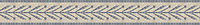 """5"""" Leaf & Berry border, a hand-cut stone mosaic, shown in polished Botticino and Bardiglio."""