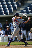March 6 2009: Peter Tountas of the Evansville Purple Aces in action against the Pepperdine Waves at Eddy D. Field Stadium in Malibu,CA.  Photo by Larry Goren/Four Seam Images