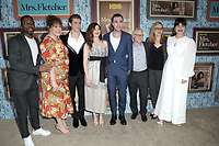 """LOS ANGELES - OCT 21:  Rashad Edwards, Katie Kershaw, Owen Teague, Kathryn Hahn, Jackson White, Tom Perrotta, Helen Estabrook, Casey Wilson at the """"Mrs Fletcher"""" Premiere Screening at the Avalon Hollywood on October 21, 2019 in Los Angeles, CA"""