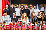 Staff of Tralee Complex enjoying their Christmas party in Denny Lane on Saturday night.<br /> Seated l-r, Fiona Kelly, Jane Campbell, Holly Boyd, Aoife McDonnell and Gerri O&rsquo;Brien.<br /> Back l-r, Kyle Bustard, Pa Fitzgibbon, Sean Duggan, Andrew O&rsquo;Callaghan, Paudi Moriarty, Ger McDonnell and Dominic Horan.