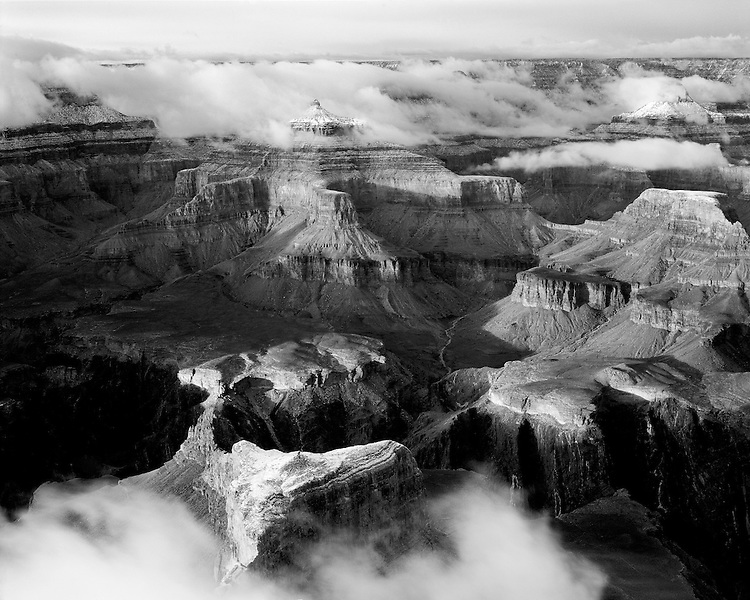 Clearing winter storm over the Isis Temple viewed from Hopi Point; Grand Canyon National Park, AZ