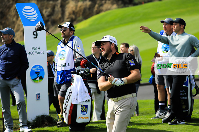 Graeme McDowell (NIR) during the first round of the AT&T Pro-Am, Pebble Beach Golf Links, Monterey, California, USA. 07/02/2019<br /> Picture: Golffile | Phil Inglis<br /> <br /> <br /> All photo usage must carry mandatory copyright credit (© Golffile | Phil Inglis)