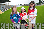Talented hurlers at the Cúl Camp in Fitzgerald Stadium last week. .L-R Ellen Hickey, Aoibhe Gallagher and Caoimhe O'Sullivan.