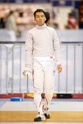 Tomohiro Shimamura (JPN),<br /> AUGUST 5, 2013 - Fencing :<br /> World Fencing Championships Budapest 2013, Men's Individual Sabre Qualifications at Syma Hall in Budapest, Hungary. (Photo by Enrico Calderoni/AFLO SPORT) [0391]