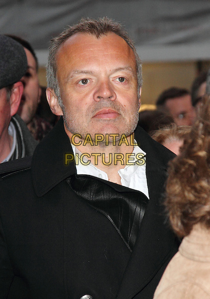 Graham Norton.Press Night for 'Once' at the Phoenix Theatre, Charing Cross Road, London, England..April 9th 2013.headshot portrait black coat stubble facial hair  .CAP/ROS.©Steve Ross/Capital Pictures