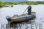 Aidan O'Callaghan (Killarney) going fishing for salmon in the lakes at Ross Castle on Sunday morning.