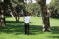 Ross McGowan (ENG) during the 1st day at the  Andalucía Masters at Club de Golf Valderrama, Sotogrande, Spain. .Picture Fran Caffrey www.golffile.ie