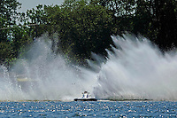 "Frame 1: Kevin Kreitzer, A-64 ""Blue Devil"" hooks in turn 2 and blows some decking off the boat. (2.5 MOD class hydroplane(s)"