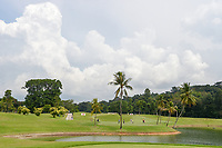 A wide view of the green on 2 during Rd 4 of the Asia-Pacific Amateur Championship, Sentosa Golf Club, Singapore. 10/7/2018.<br /> Picture: Golffile | Ken Murray<br /> <br /> <br /> All photo usage must carry mandatory copyright credit (© Golffile | Ken Murray)