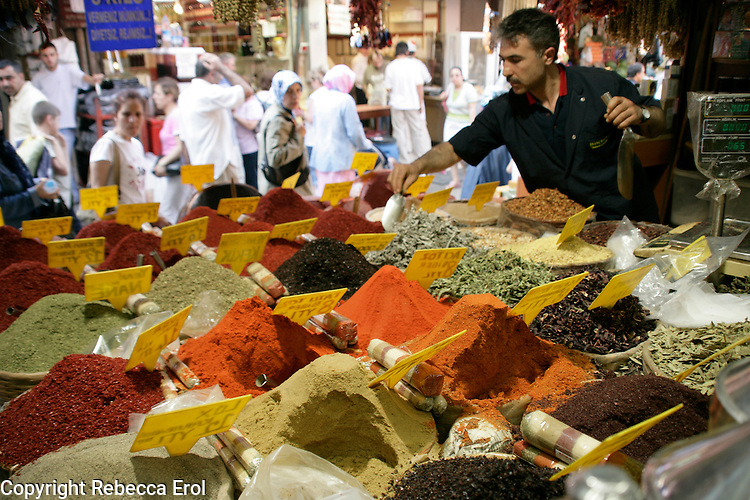 Spices for sale, Eminonu, Istanbul, Turkey