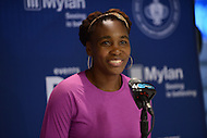 Washington, DC - July 14, 2015: Washington Kastles' Venus Williams holds a news conference at the Washington Kastles Stadium in the District of Columbia, July 14, 2015, before taking the court for the Kastles during week 3 of the World Team Tennis 2015 season. Williams is currently ranked 15th in the world. (Photo by Don Baxter/Media Images International)