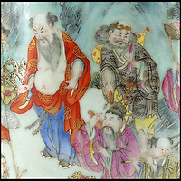 BNPS.co.uk (01202 558833)Pic EastbourneAuctions/BNPS<br /> <br /> Hand painted details of the Chinese god of longevity Shou Lou.<br /> <br /> Sold for &pound;87,000 - Cracking price paid for broken vase pensioner was taking to a charity shop. <br /> <br /> A pensioner who was about to take a broken vase to charity shop before a sharp eyed auctioneer intervened is celebrating today after it sold for &pound;86,000.<br /> <br /> Anne Beck had inherited the cracked and chipped 12ins tall item from her grandfather who was an antique restorer but he never got round to repairing it.<br /> <br /> The 83-year-old kept it in her garage for years until she put it on the back seat of her car to take it to a charity shop.<br /> <br /> On the way she called in to an auction house valuation day and was persuaded to sell it instead.