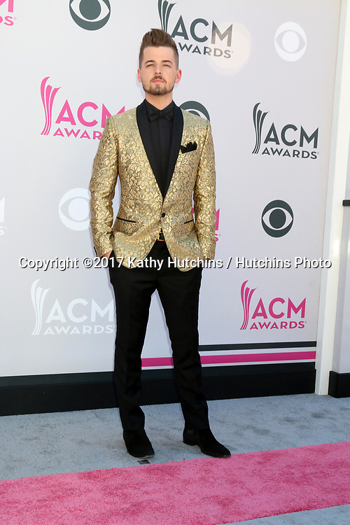 LAS VEGAS - APR 2:  Chase Bryant at the Academy of Country Music Awards 2017 at T-Mobile Arena on April 2, 2017 in Las Vegas, NV