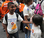 Charles Hylton, age 8, Nyack, who was among those marching with the Hudson River Presbytery, at the People's Climate March in New York City on Sunday, September 21, 2014. Photo by Jim Peppler. Copyright Jim Peppler 2014. All rights reserved.