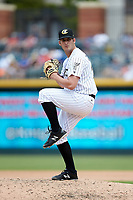 Charlotte Knights relief pitcher Tyler Danish (26) in action against the Indianapolis Indians at BB&T BallPark on August 22, 2018 in Charlotte, North Carolina.  The Indians defeated the Knights 6-4 in 11 innings.  (Brian Westerholt/Four Seam Images)