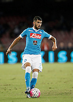 Calcio, Serie A: Napoli vs Juventus. Napoli, stadio San Paolo, 26 settembre 2015. <br /> Napoli&rsquo;s Elseid Hysaj in action during the Italian Serie A football match between Napoli and Juventus at Naple's San Paolo stadium, 26 September 2015.<br /> UPDATE IMAGES PRESS/Isabella Bonotto