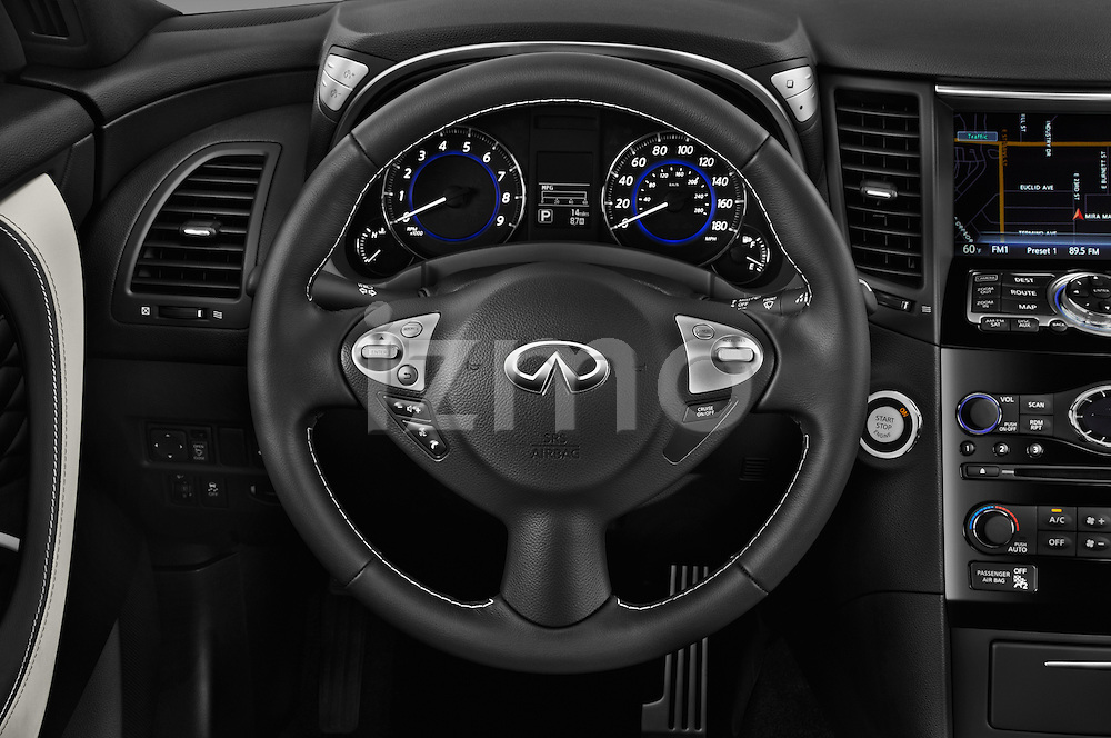 Car pictures of steering wheel view of a 2017 Infiniti QX70 3.7 5 Door SUV Steering Wheel
