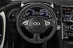 Car pictures of steering wheel view of a 2017 Infiniti QX70 3.7 5 Door SUV Steering Wheel